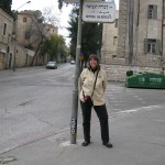 "On the street of Devora Ha-Nevia which means ""Deborah the Prophetess Tomb Rediscovered"""