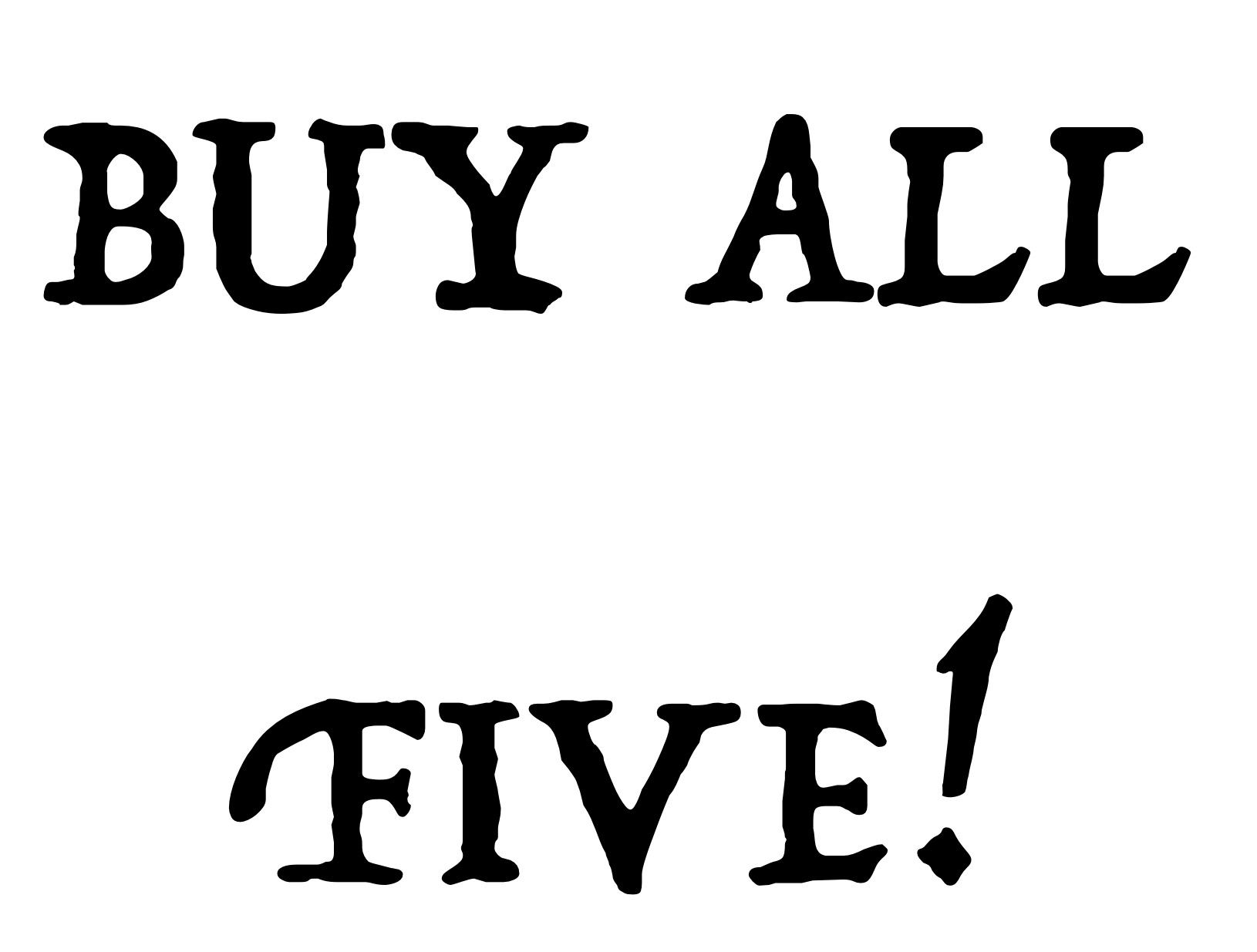 All Five For $25! (digital download bundle)